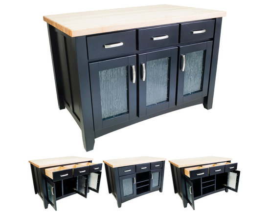 Hardware Resources - Kitchen Islands - Shown and priced with optional hard maple butcher block top (ISL01-TOP), but can be ordered without if you're looking to match your kitchen's counter material.