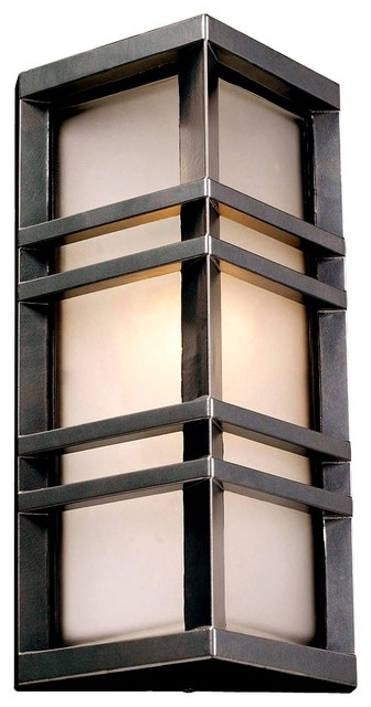 "Trevino 13 1/4"" High Bronze Outdoor Wall Light craftsman-outdoor-wall-lights-and-sconces"