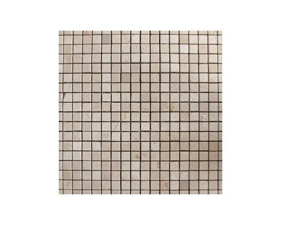 "1.5""x1.5"" Crema Marfil Polished Natural Stone Mosaic -"