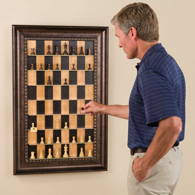 The Vertical Chess Set eclectic artwork