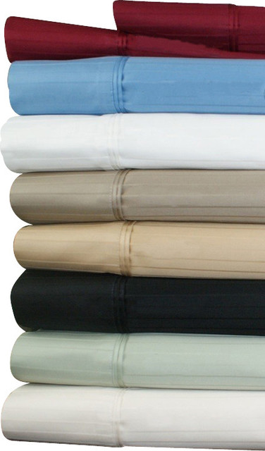 """21"""" Deep Pocket - 1000TC Striped Egyptian Cotton Bed Sheet Sets traditional-sheets"""