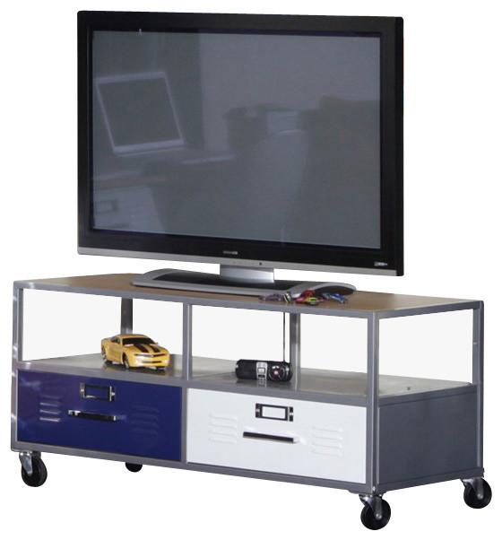 Elite products locker room mobile tv stand contemporary media storage by cymax - Tv und mediamobel ...