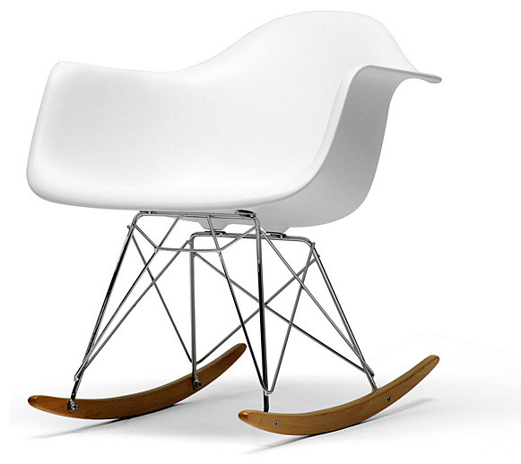 Vinnie White Cradle Chair - Modern - Rocking Chairs - by Overstock.com