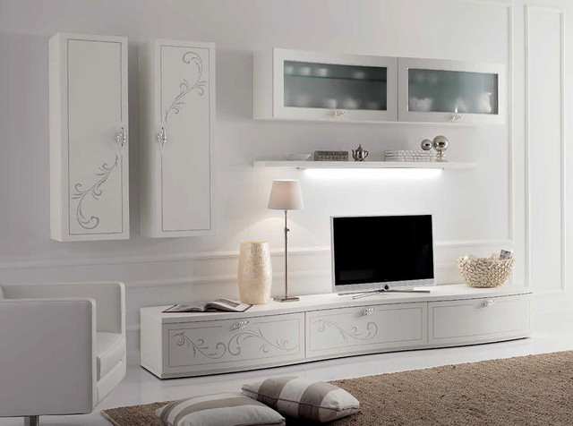 Modern Wall Unit Entertainment Center Spar Prestige