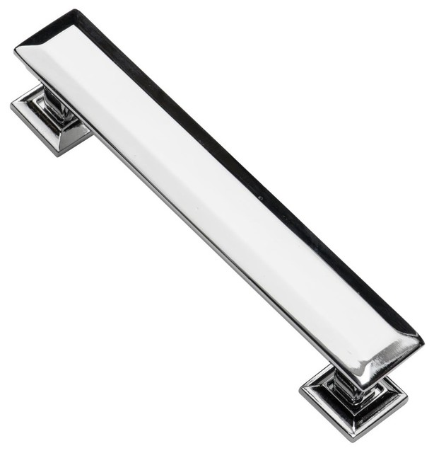 Southern hills cabinet pull polished chrome 4 3 4 inch for 4 kitchen cabinet handles