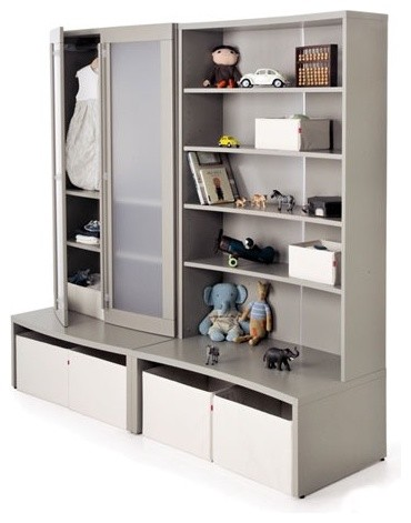 Keep Storage Unit Complete in Gray modern-storage-units-and-cabinets