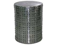 Woven Round Accent Table side-tables-and-end-tables