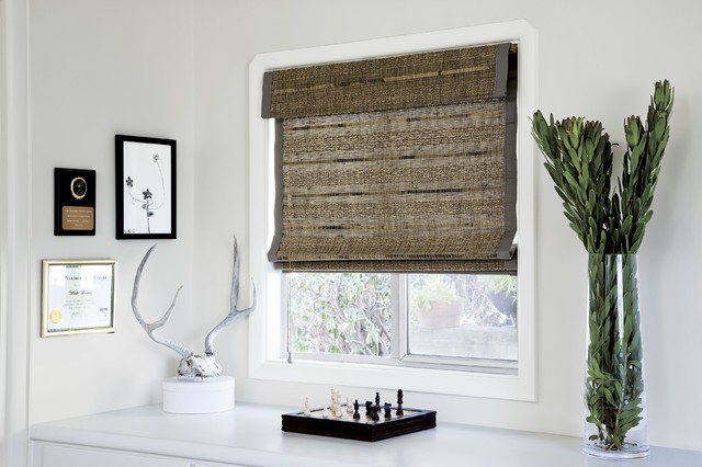 smith and noble natural woven flat fold shades