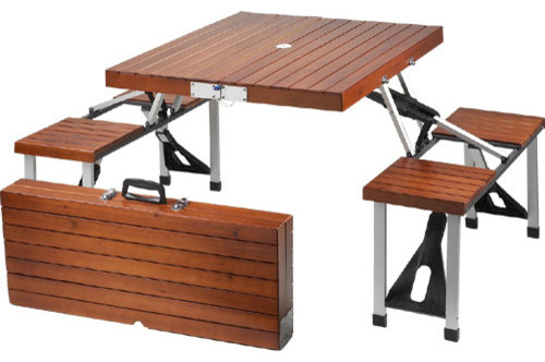 picnic at ascot portable wooden picnic table contemporary