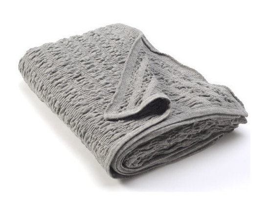 Sefte Living - Sefte Kai Woven Throw Silver - Let yourself be carried away by the soft textural waves of this sumptuous throw. The elegant design of this 100 percent Alpaca wool blanket was inspired by the ocean, and you'll feel both warm and refreshed, every time you snuggle beneath it.