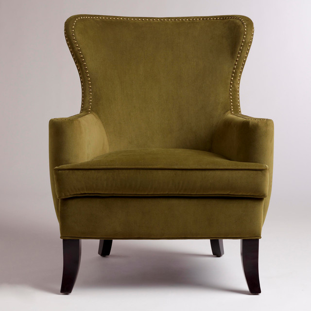 Caper Elliott Wingback Chair Contemporary Armchairs
