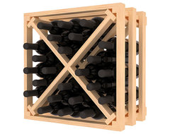 Lattice Stacking X Wine Cube in Ponderosa Pine, (Unstained) contemporary-wine-racks