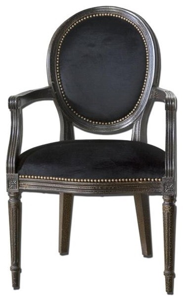 Uttermost Cecily Black Occasional Armchair modern-accent-chairs
