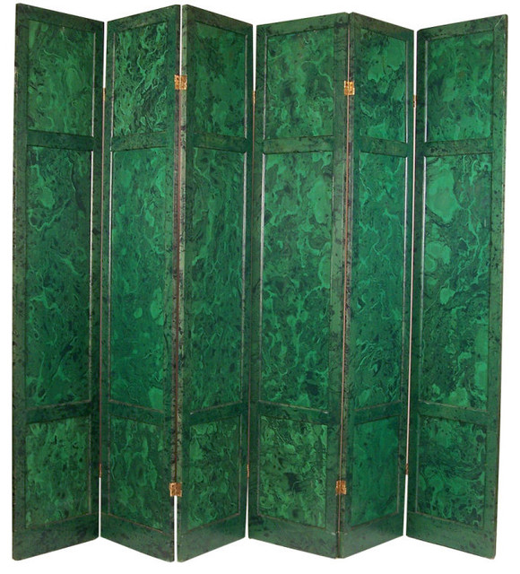 6 panel malachite painted screen eclectic screens and