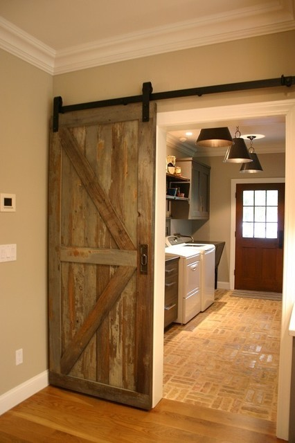 Reclaimed Barn Door Design Ideas from Projects in NYC, New Jersey & Connecticut - Rustic ...