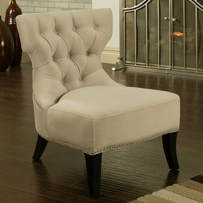 Bring a touch of elegance into your home with the Sedona Light Cream Microfiber traditional chairs