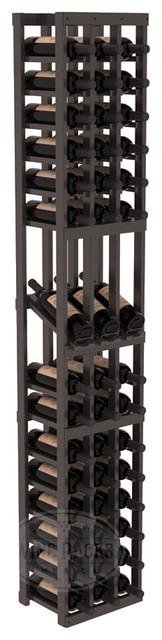 3 Column Display Row Cellar Kit in Pine with black Stain + Satin Finish traditional-wine-racks