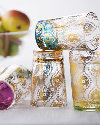 Four Moroccan Tea Glasses traditional glassware