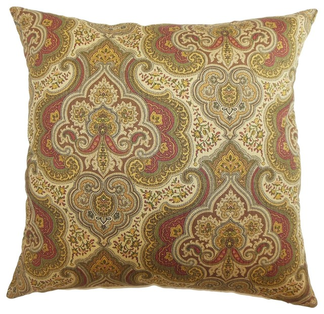 Traditional Decor Pillows : Danielle Paisley Pillow Spice 18