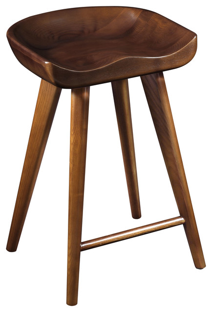 Modern Wood Bar Stools ~ Stellar wood stool in walnut midcentury bar stools and