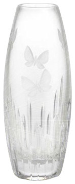 """Waterford Butterfly Vase 11"""" transitional-vases"""