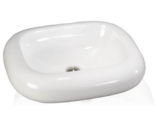 Above Counter Round White Sink - Overall Dimensions: 22 x 19 Bowl Dimensions: 17 x 14 x 5-1/2 Sleek and smooth is the feel of a porcelain bath sink. Smart and fine is the application of each design. Porcelain pure and simple is always a good answer to any creative question. The Porcelain Above Counter sinks offer a rich array of unique shapes for the bathroom.