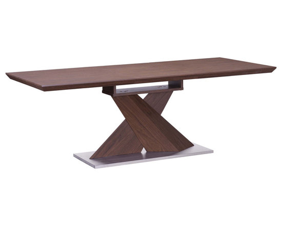 Zuo - Jaques Extension Dining Table Walnut - This extension capable table is ideal for small or large groups. Add charm to your home with this artfully crafted walnut table.
