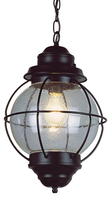 "Country - Cottage Tulsa Lantern 19"" High Black Outdoor Hanging Light Fixtur traditional outdoor lighting"