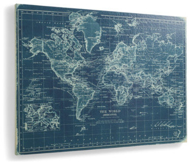 Bluee World Map traditional
