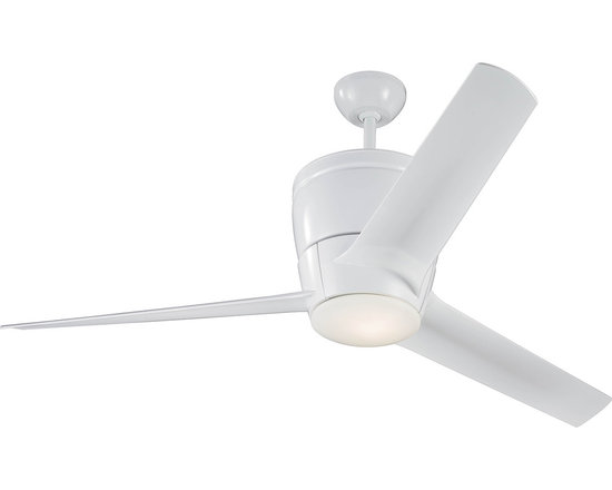 Monte Carlo - Vectra Max White 3-blade Ceiling Fan - The Vectra Max 3-blade ceiling fan features a premium torque-induction motor for whisper quiet operation. With three 15-degree pitched blades,this fan offers optimal air flow and comes in a crisp white finish for a contemporary look.