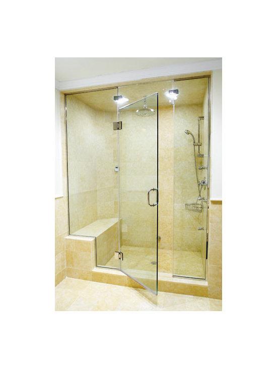Shower Door Enclosures - Hinged Shower Door Enclosure, SlideRight Doors