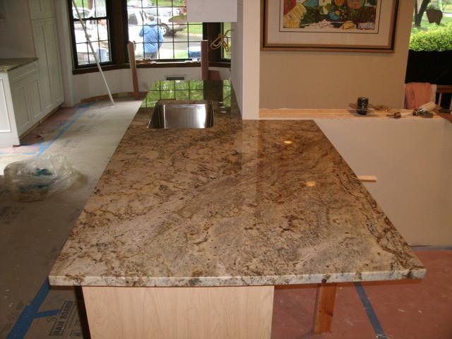 Sienna Bordeaux Granite Countertops - Kitchen Countertops - other metro - by Granite Works ...