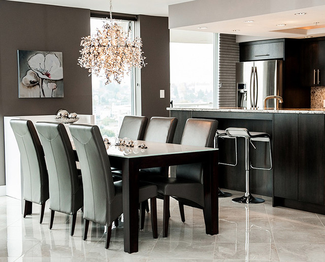 Penthouse downtown nanaimo contemporary dining room for Interior decorating nanaimo