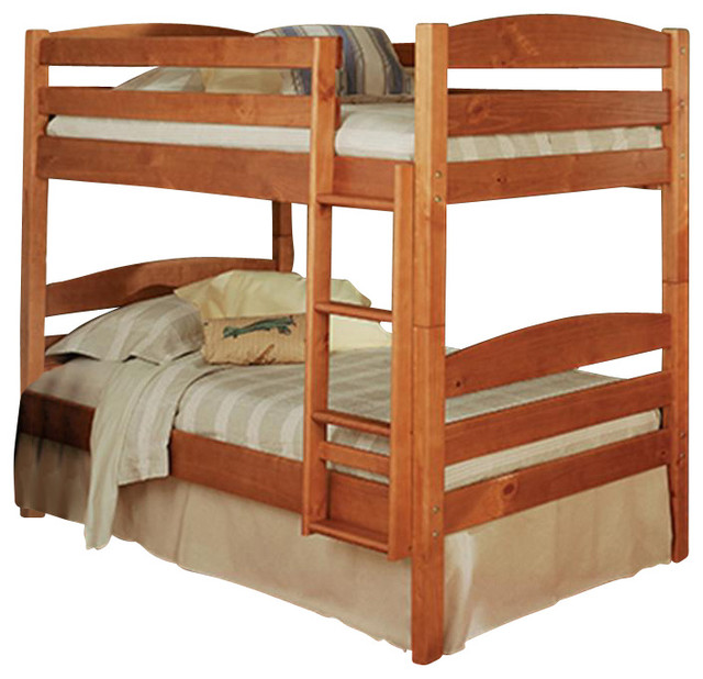 Houzz Modern Bedroom Furniture: Twin Over Twin Bunk Bed