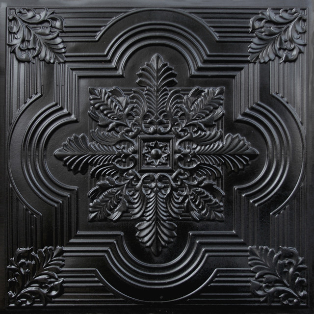 206 Faux Tin Ceiling Tile 24x24 - Black - Ceiling Tile - by Decorative Ceiling Tiles, Inc.