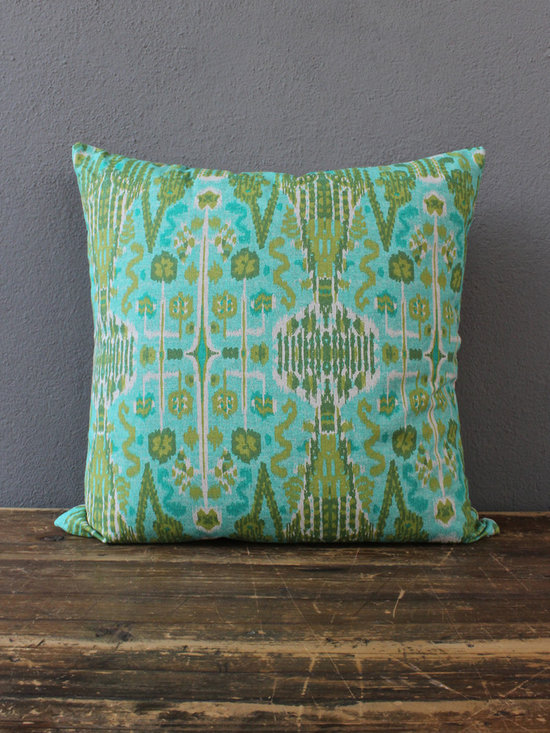 knife edge aqua pillow - view this item on our website for more information + purchasing availability: http://redinfred.com/shop/category/free-shipping/knife-edge-aqua-pillow/