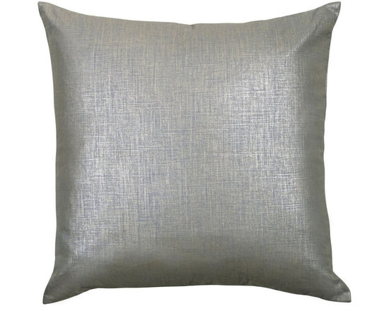 """Mystic Valley Traders Radiance Steel - Euro Sham B - The Radiance Steel Euro sham B is fashioned from the Glimmer Steel fabric on each side, and finished with a clean edge; sold flat (without fills); 26""""x26""""."""