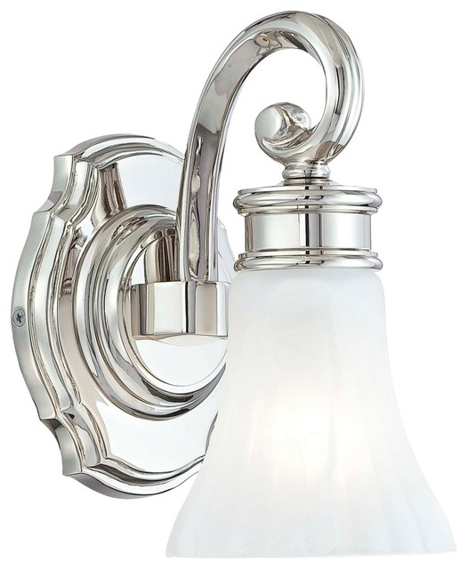 Metropolitan Bath Collection Fluted 9 1 4 High Wall Sconce Traditional Bathroom Vanity