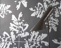 Little Leaves (Dark Gray/Bronze) by Ferm Living contemporary wallpaper