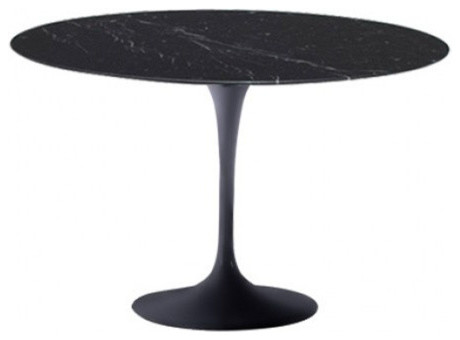 39 Round Black Marble Top Table Contemporary Dining Tables By Furniture