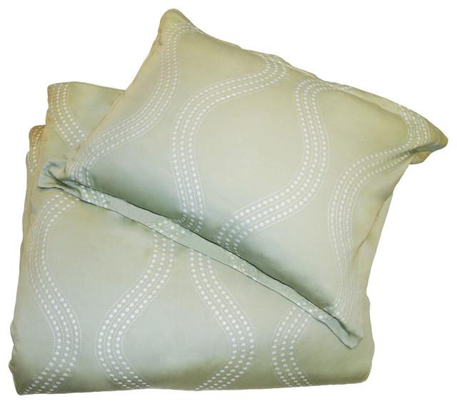 Matcha Green Marina Duvet Cover contemporary-pillowcases-and-shams