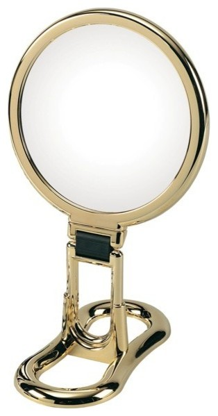 Toeletta 398-3G Table Magnifying Mirror 3x in Gold contemporary-bathroom-mirrors