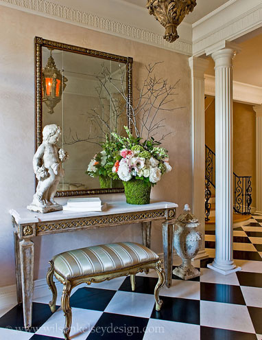 Villa Style Foyer traditional-entry