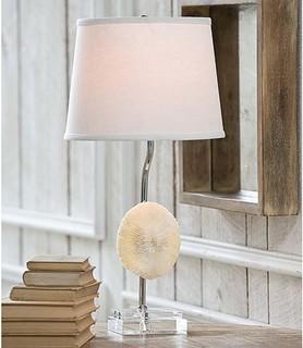 Regina Andrew White Mushroom Coral Table Lamp on Crystal ...