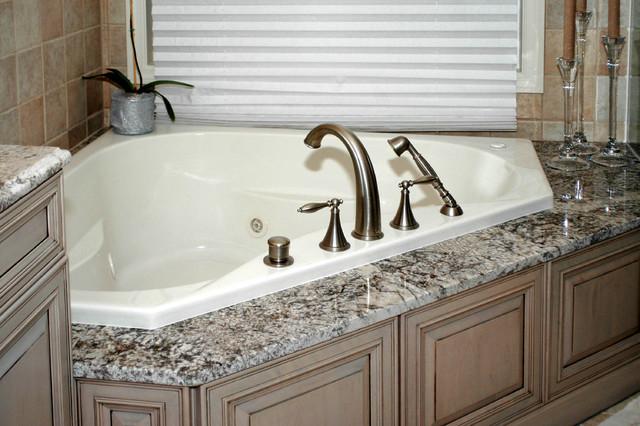 Bathroom Tub Deck Ideas : Tub deck traditional bathroom cleveland by