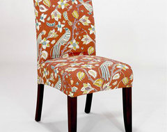 Paprika Birds Short Anna Slipcover Chair Collection contemporary-living-room-chairs