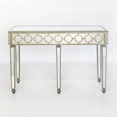 Mirrored Circle Console contemporary-side-tables-and-end-tables