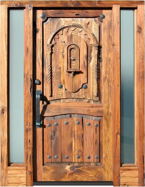 Carved Western front Doors - Asian