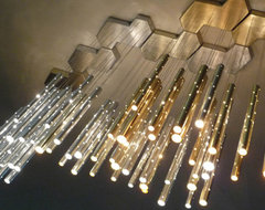 Rain. Radiant drops. contemporary pendant lighting