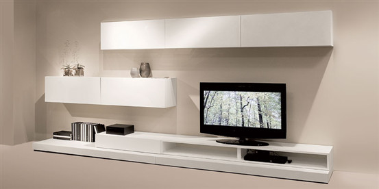 Natuzzi Novecento wall units - modern - media storage - by natuzzi.